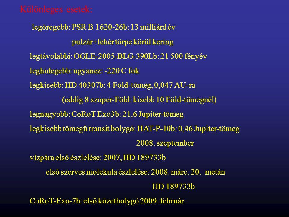 legöregebb: PSR B 1620-26b: 13 milliárd év