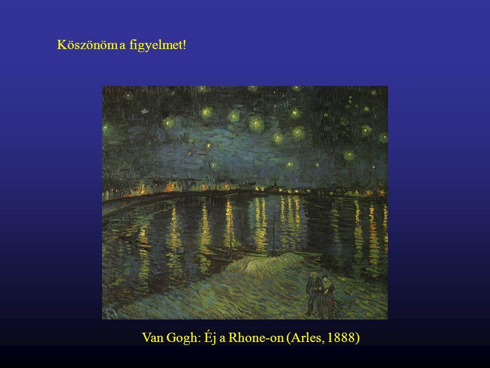 Köszönöm a figyelmet! Van Gogh: Éj a Rhone-on (Arles, 1888)