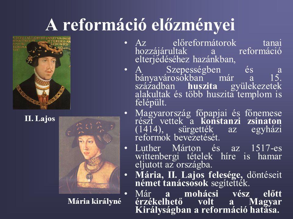 A reformáció előzményei
