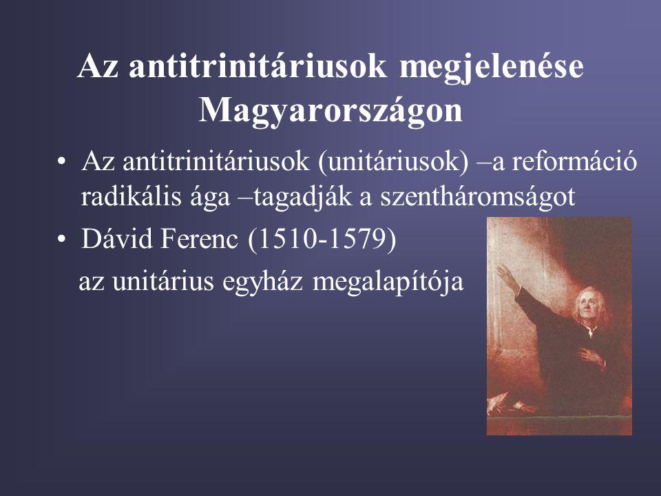 Az antitrinitáriusok megjelenése Magyarországon