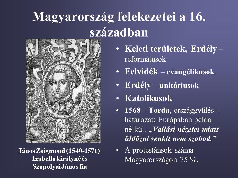 Magyarország felekezetei a 16. században