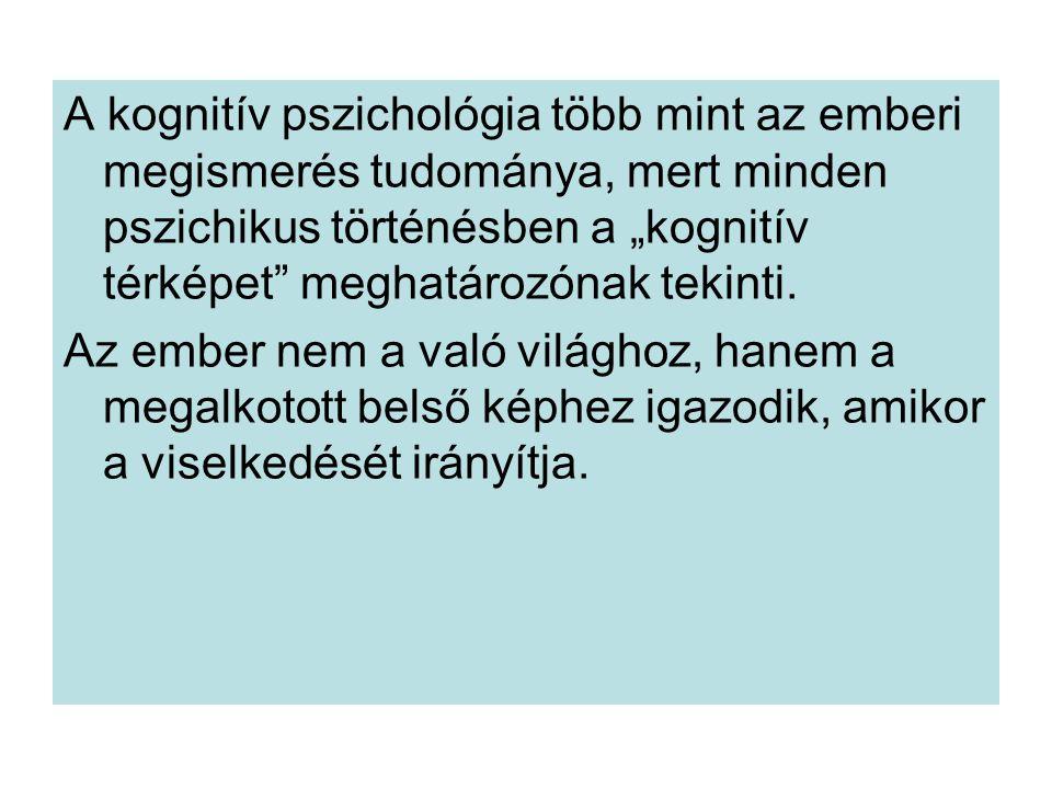 """A kognitív pszichológia több mint az emberi megismerés tudománya, mert minden pszichikus történésben a """"kognitív térképet meghatározónak tekinti."""