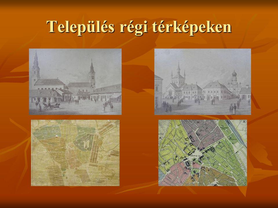 Település régi térképeken