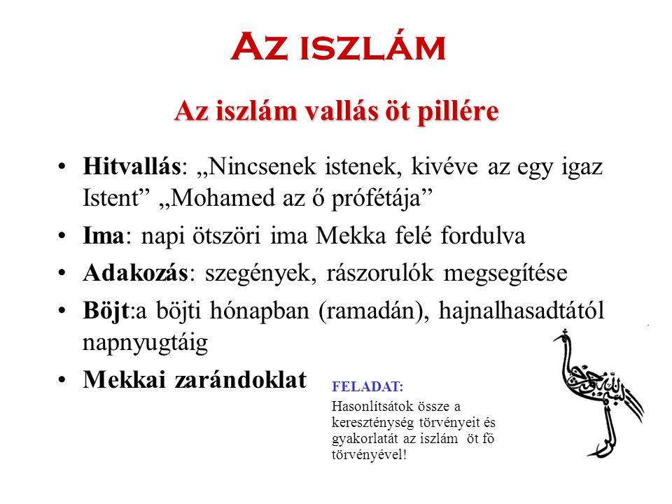Az iszlám vallás öt pillére