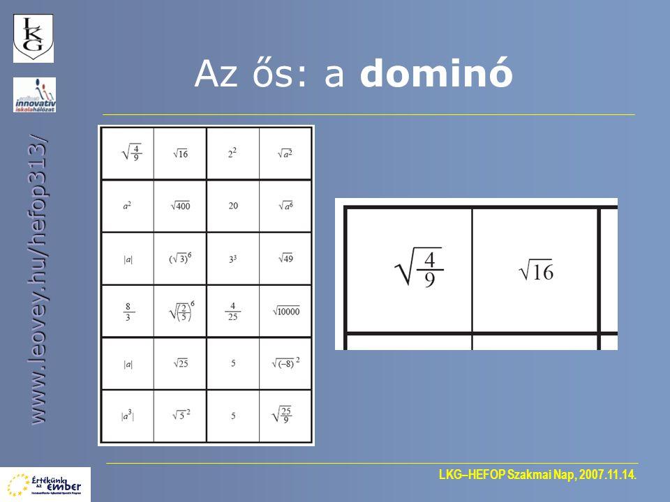 Az ős: a dominó