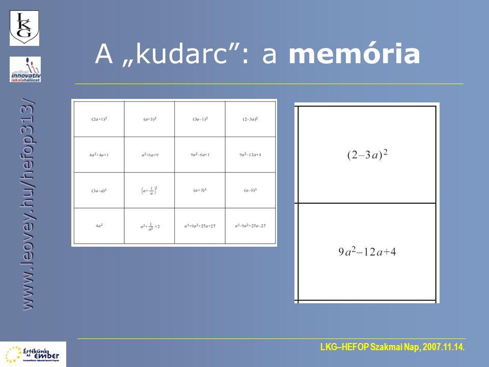 """A """"kudarc : a memória"""
