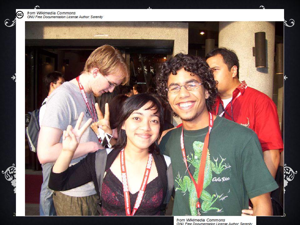 A Wikipédiákat bárki szerkesztheti és az évek során az aktív, visszatérő szerkesztők száma elérte a 100 000-et. Az első szerkesztői találkozót 2003-ban tartották Műnchenben, mely lehetőséget biztosított arra, hogy az addig csak a virtuális térben együttműködő szerkesztők a való életben is találkozhassanak egymással. A különböző országokban tartott találkozókra hasonló emberek mentek el.