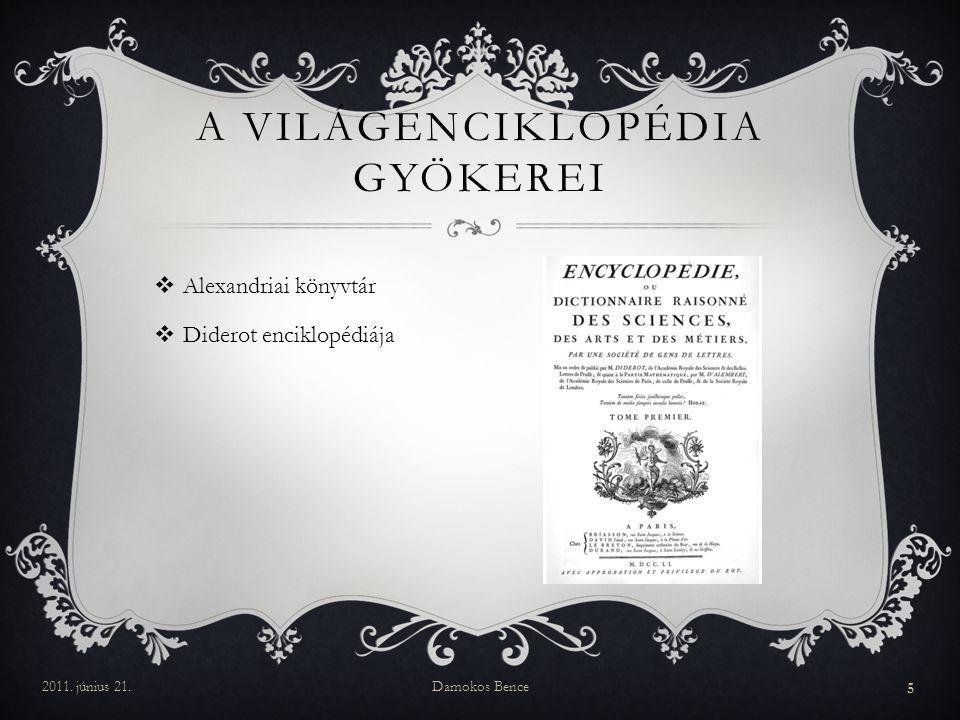 A világenciklopédia gyökerei