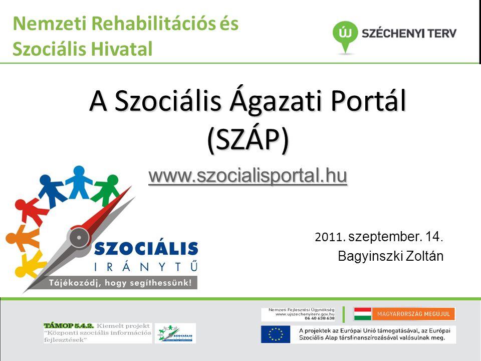A Szociális Ágazati Portál (SZÁP)