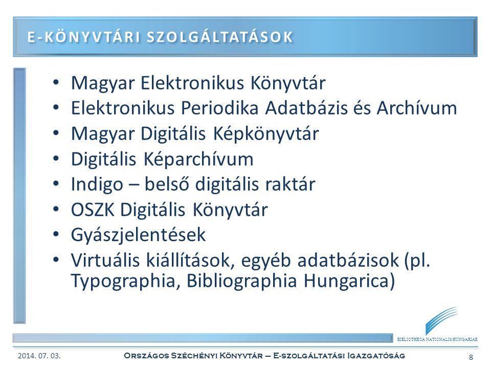 E-könyvtári szolgáltatások