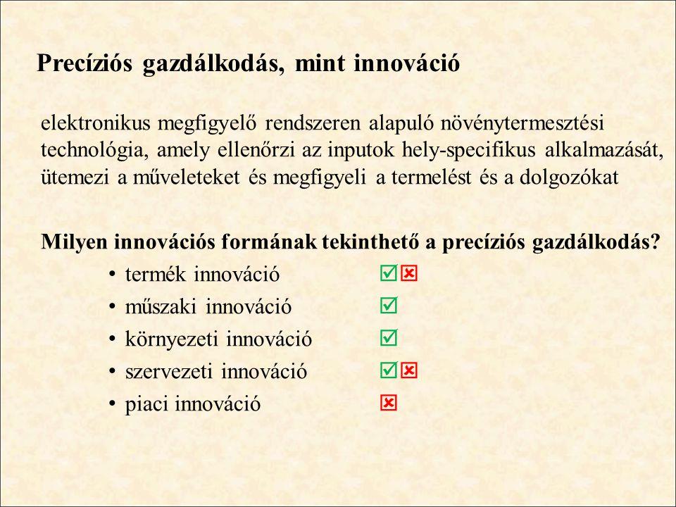 Precíziós gazdálkodás, mint innováció