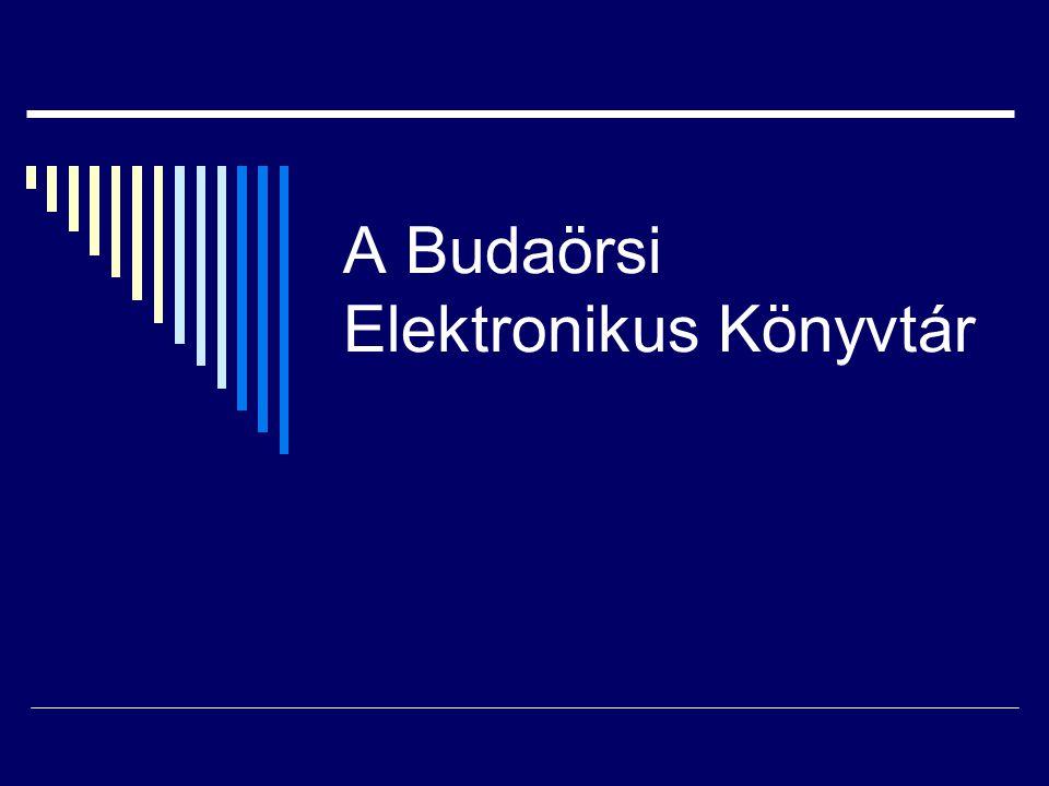 A Budaörsi Elektronikus Könyvtár