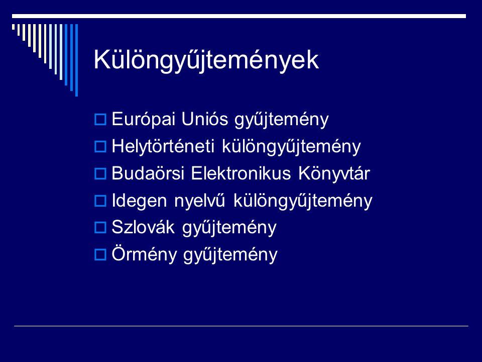 Különgyűjtemények Európai Uniós gyűjtemény