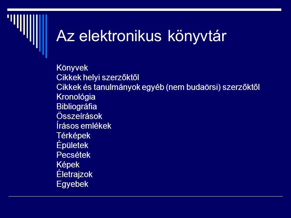 Az elektronikus könyvtár