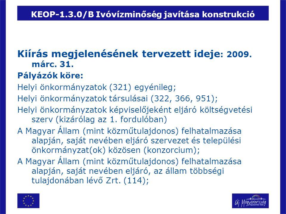 KEOP-1.3.0/B Ivóvízminőség javítása konstrukció