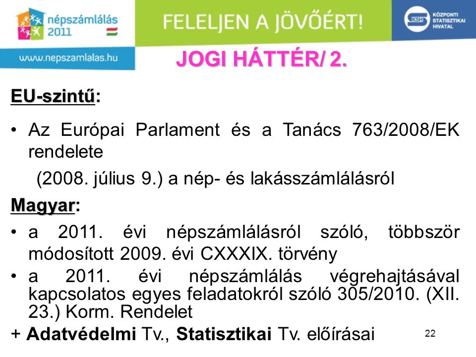 JOGI HÁTTÉR/ 2. EU-szintű: