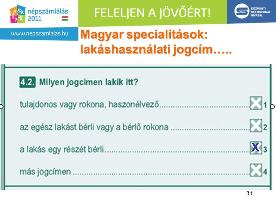 Magyar specialitások: lakáshasználati jogcím…..
