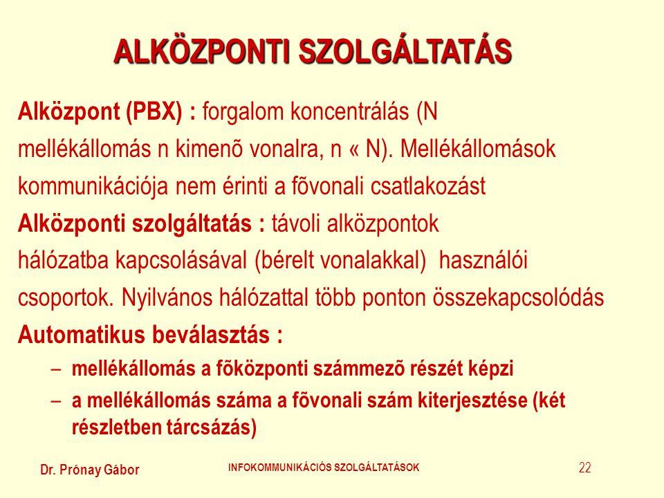 ALKÖZPONTI SZOLGÁLTATÁS INFOKOMMUNIKÁCIÓS SZOLGÁLTATÁSOK