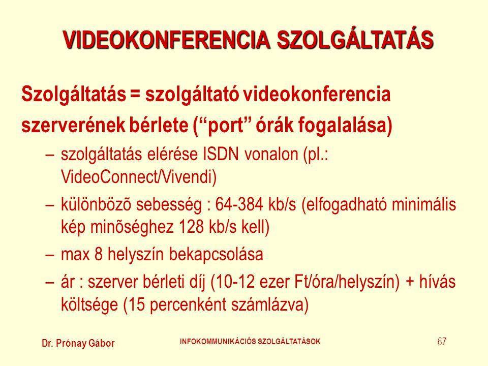 VIDEOKONFERENCIA SZOLGÁLTATÁS INFOKOMMUNIKÁCIÓS SZOLGÁLTATÁSOK