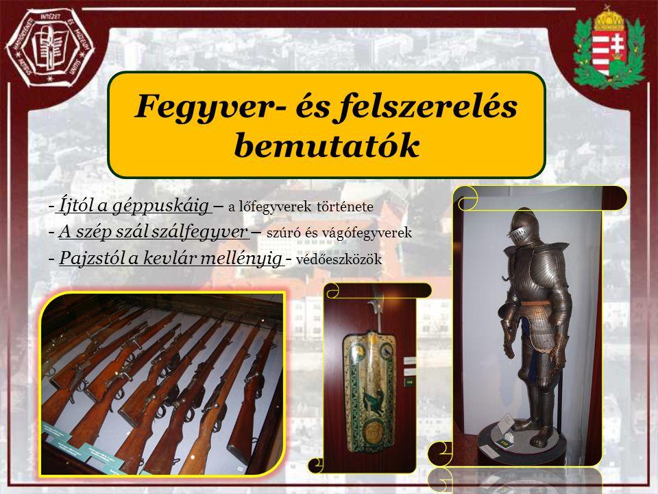 Fegyver- és felszerelés bemutatók