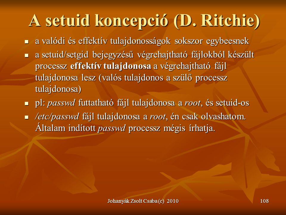 A setuid koncepció (D. Ritchie)