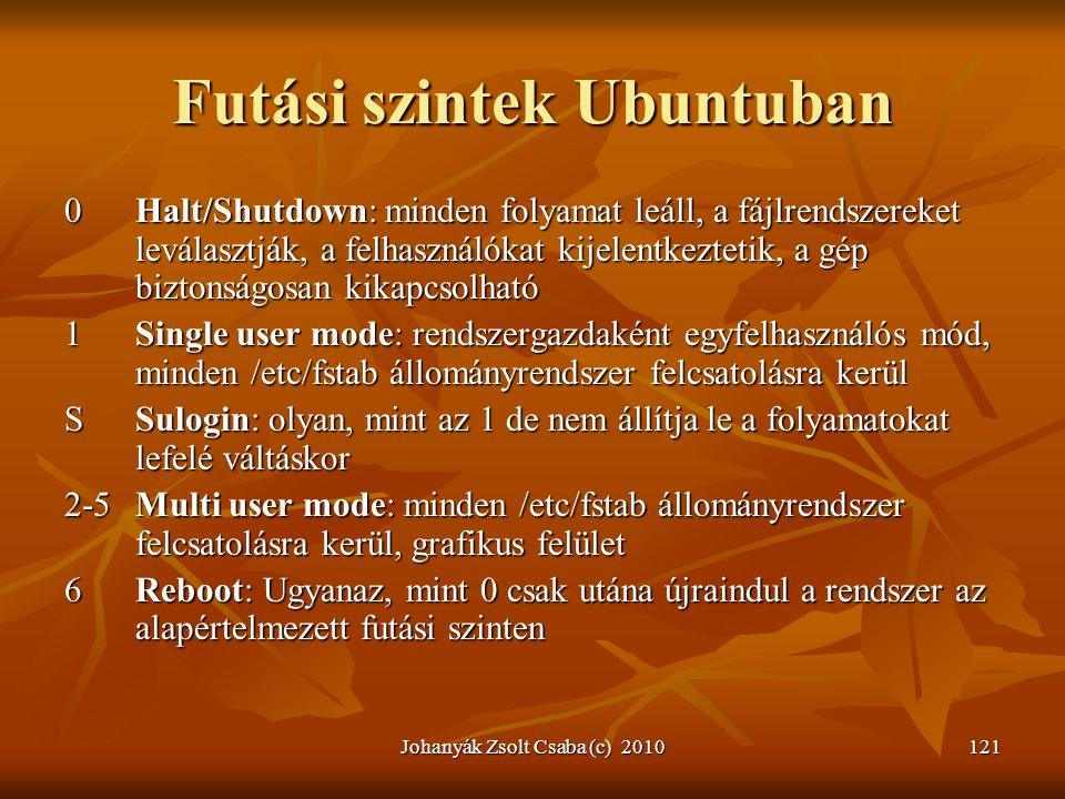 Futási szintek Ubuntuban