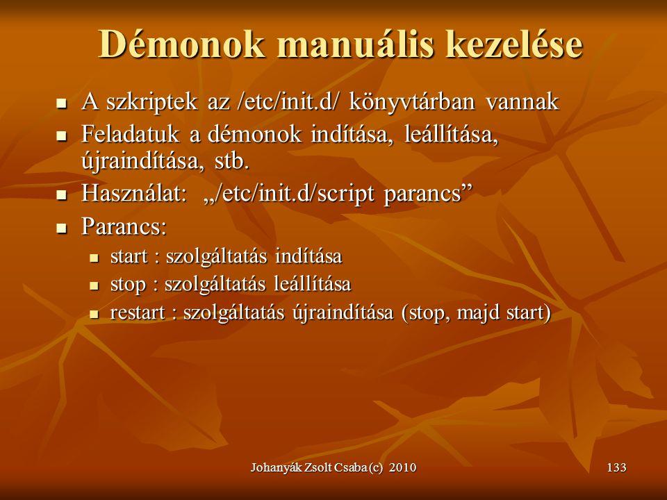 Démonok manuális kezelése