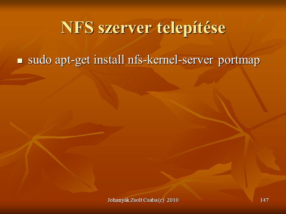 NFS szerver telepítése