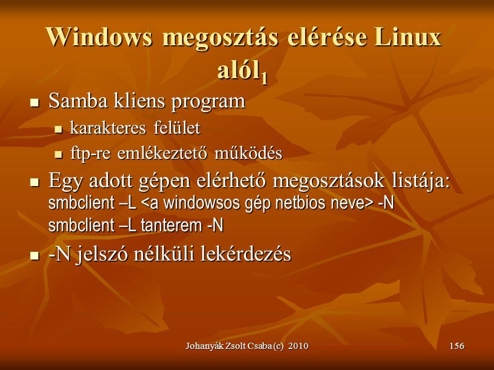Windows megosztás elérése Linux alól1