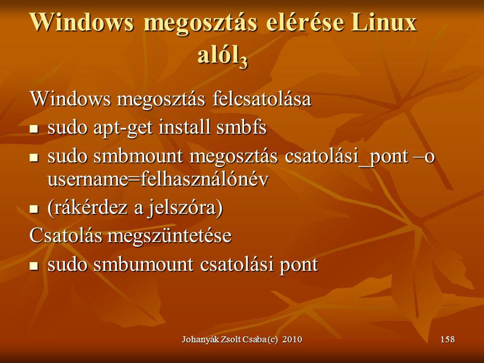 Windows megosztás elérése Linux alól3