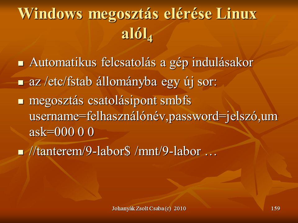 Windows megosztás elérése Linux alól4