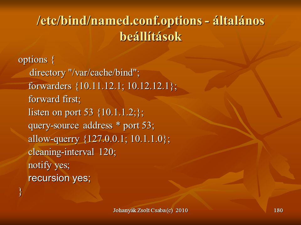 /etc/bind/named.conf.options - általános beállítások