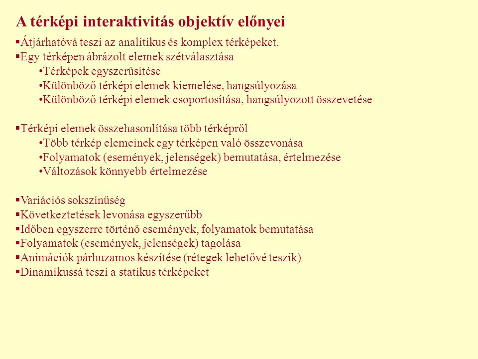 A térképi interaktivitás objektív előnyei
