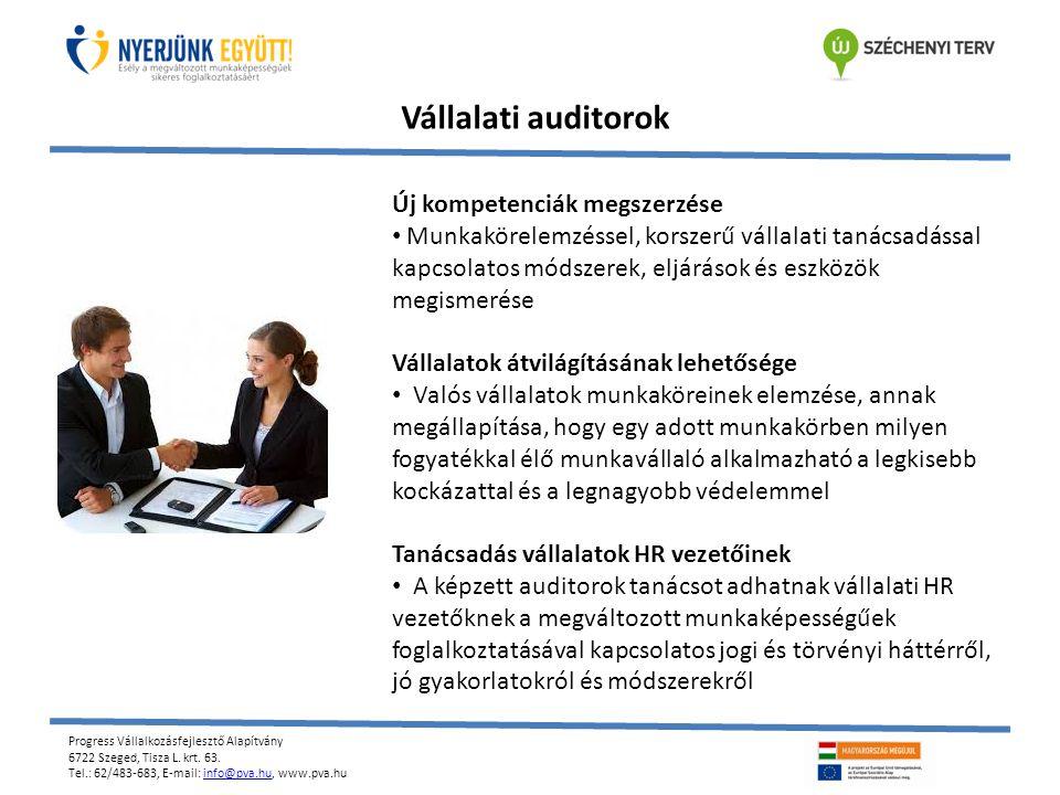 Vállalati auditorok Új kompetenciák megszerzése