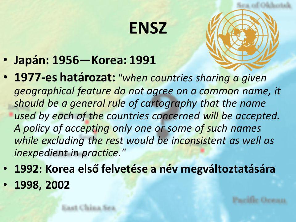 ENSZ Japán: 1956—Korea: 1991.