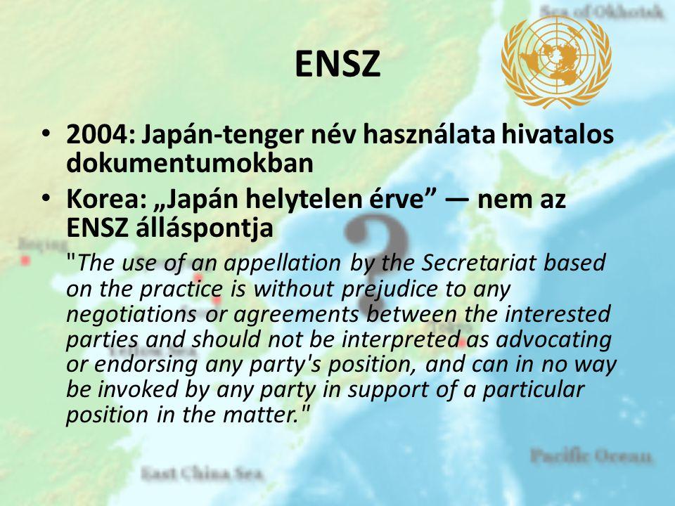ENSZ 2004: Japán-tenger név használata hivatalos dokumentumokban