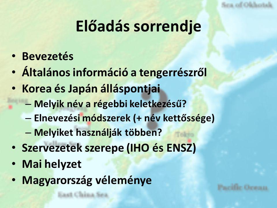 Előadás sorrendje Bevezetés Általános információ a tengerrészről