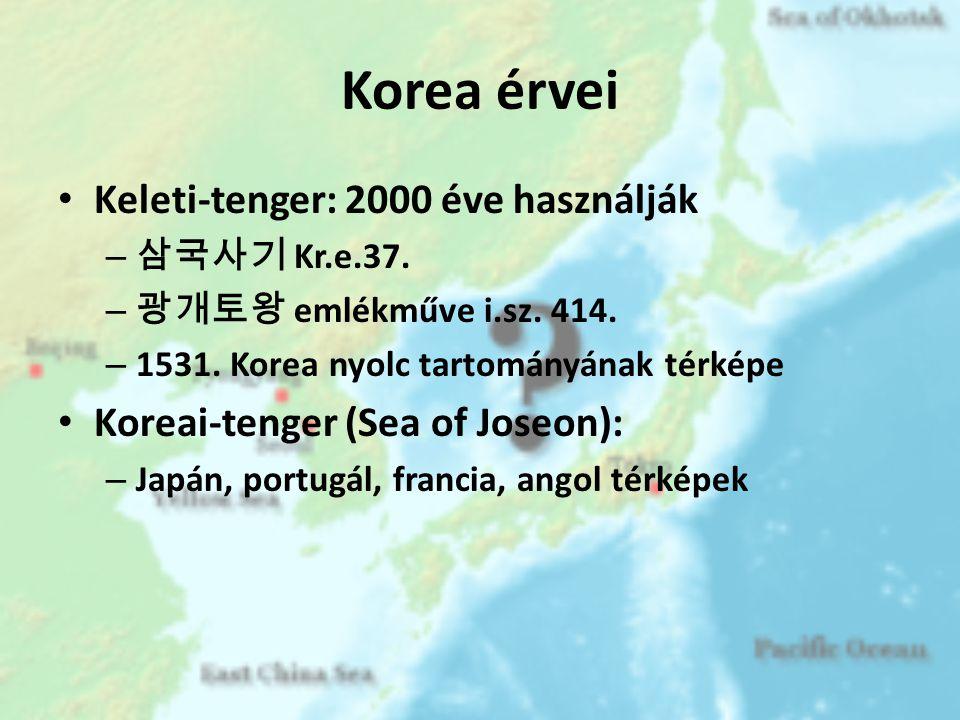 Korea érvei Keleti-tenger: 2000 éve használják