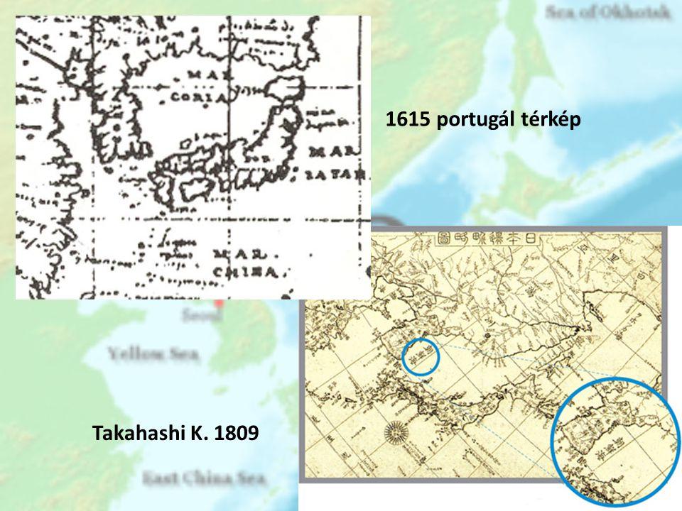 1615 portugál térkép Takahashi K. 1809