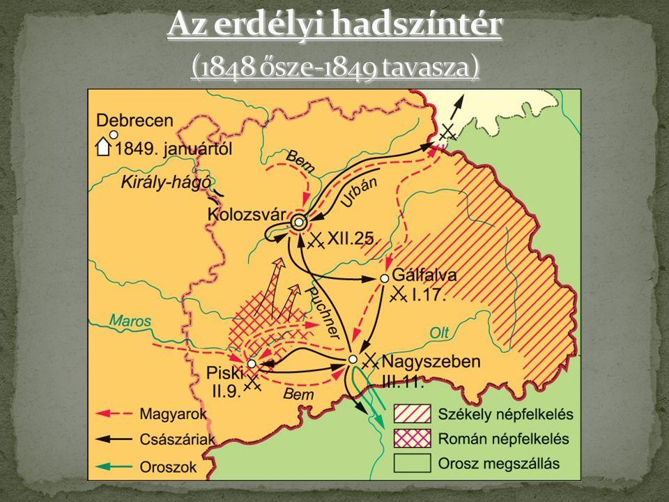 Az erdélyi hadszíntér (1848 ősze-1849 tavasza)