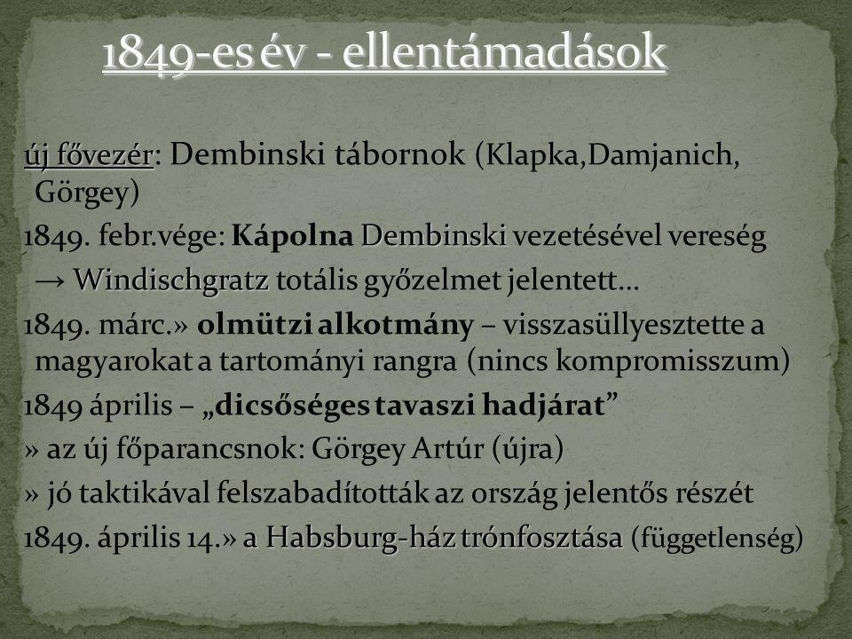 1849-es év - ellentámadások