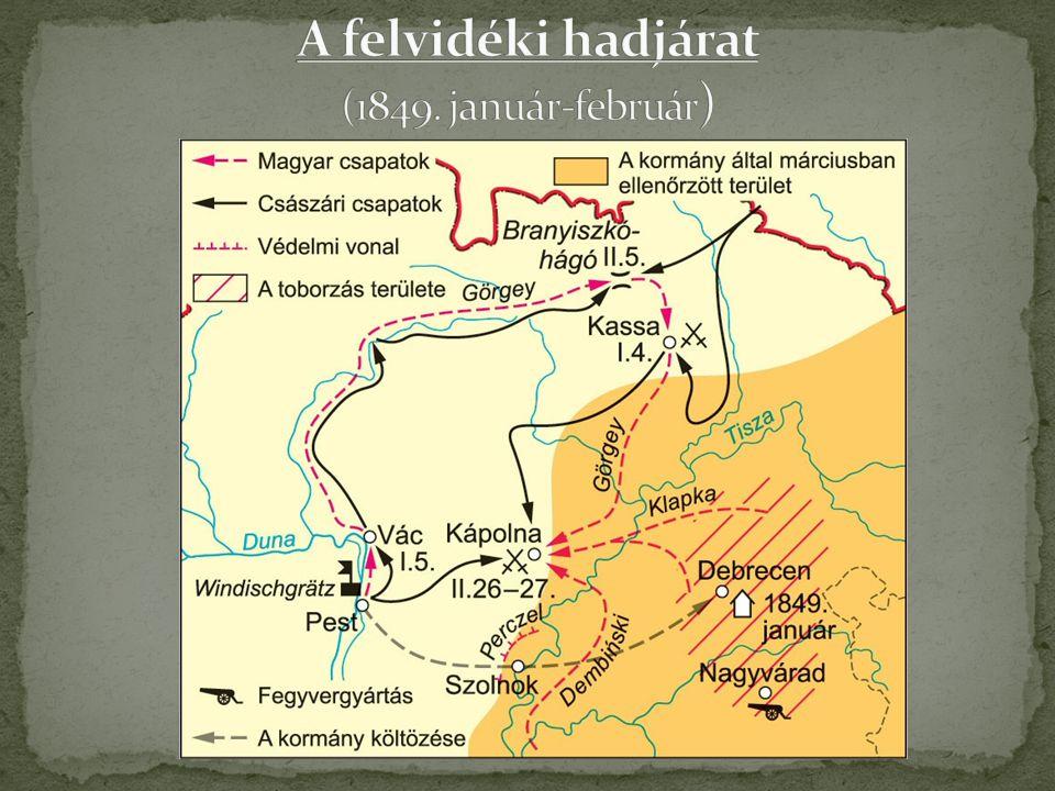 A felvidéki hadjárat (1849. január-február)
