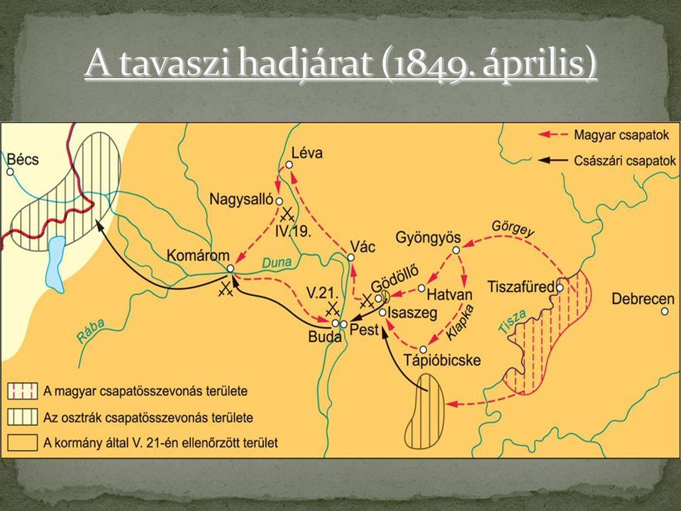 A tavaszi hadjárat (1849. április)