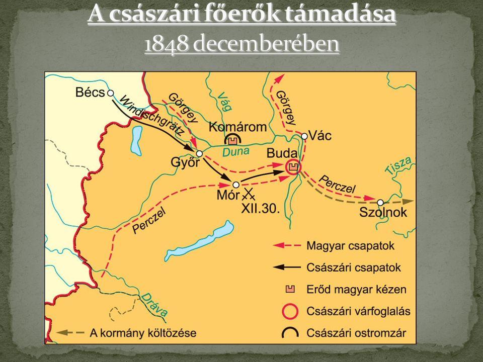 A császári főerők támadása 1848 decemberében