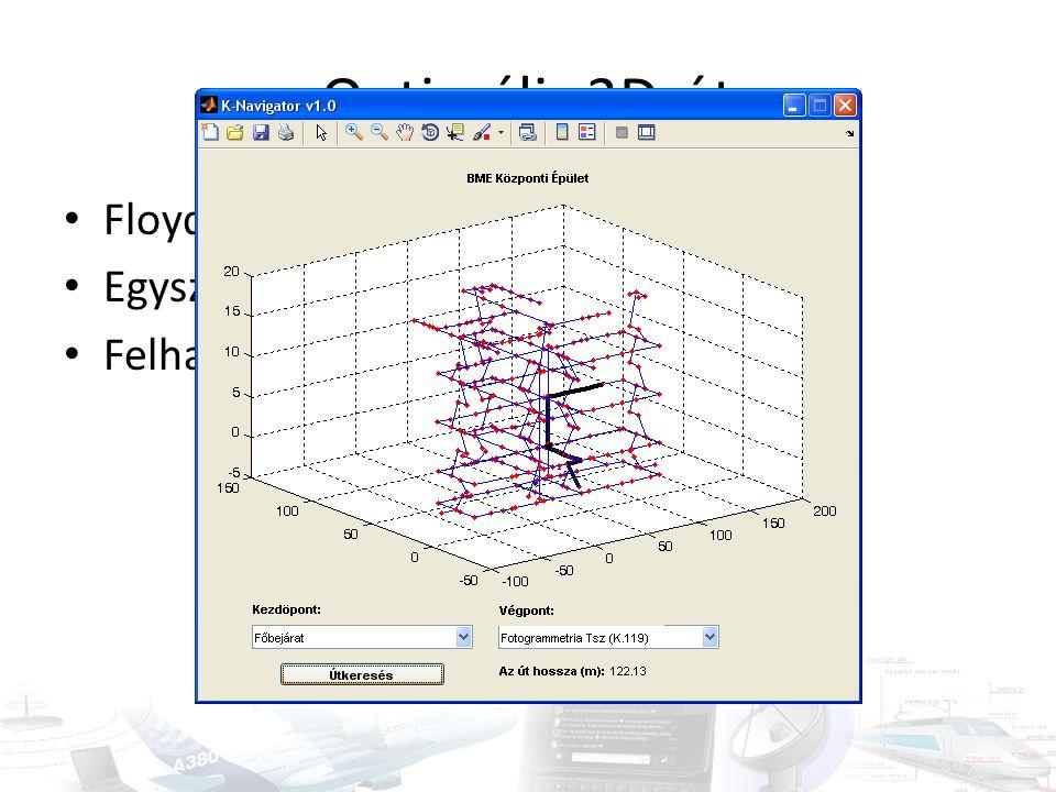 Optimális 3D-út Floyd-Warshall-algoritmus (azonos!)