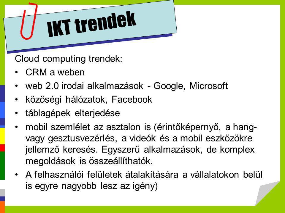 IKT trendek Cloud computing trendek: CRM a weben