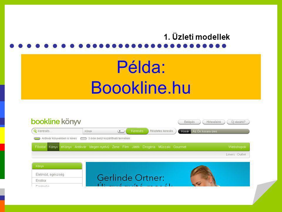 1. Üzleti modellek Példa: Boookline.hu