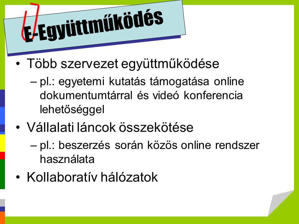 E-Együttműködés Több szervezet együttműködése