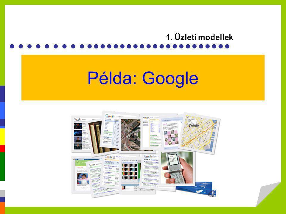 1. Üzleti modellek Példa: Google