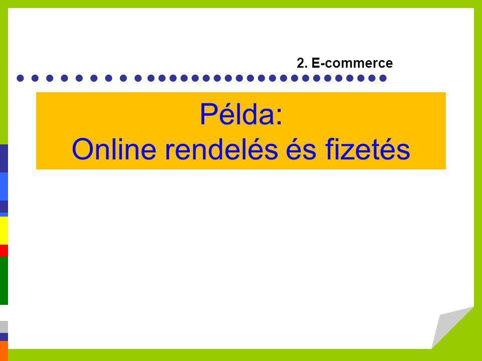 Példa: Online rendelés és fizetés